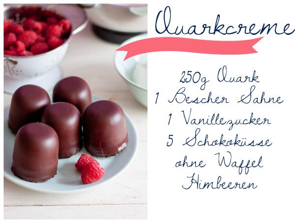 Zutaten für Quarkcreme