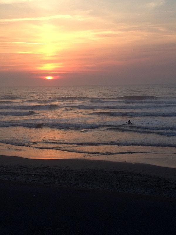 Sonnenuntergang auf Norderney 12 von 12