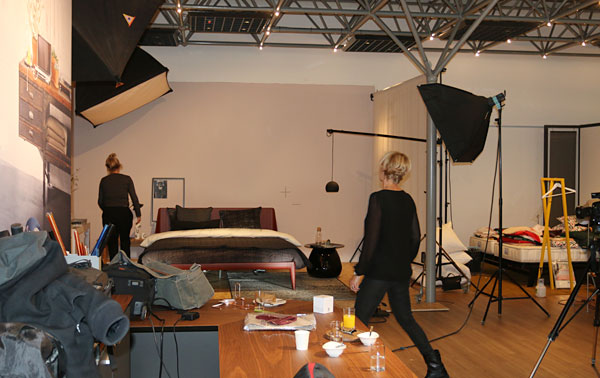 Behind the scenes Styling