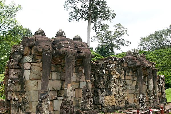 Elefantenmauer in Siem Reap