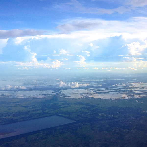 Ausblick auf Kambodscha